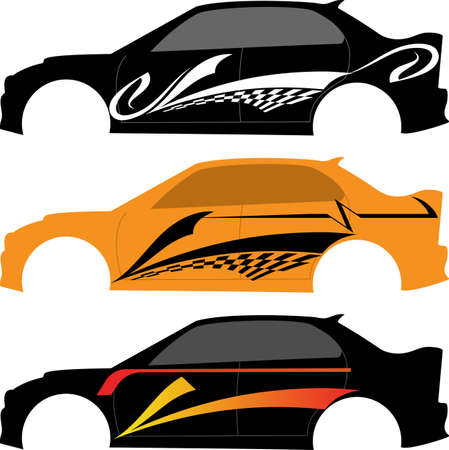 Vehicle Graphics, Stripe : Vinyl Ready Vector Art Иллюстрация