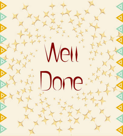 done: Well Done Card Design Vector Art
