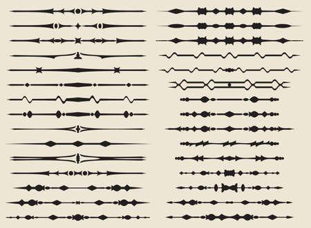 Text Divider Ornamental Design Vector Art Ilustração
