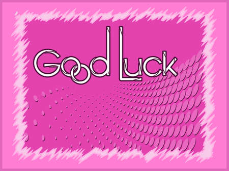 good: Good Luck Card Vector Art