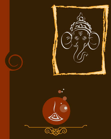 deepak: Ganesha The Lord Of Wisdom Vector Art Illustration