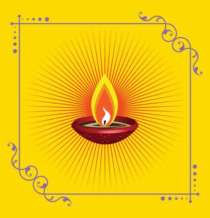 diwali: Diwali Greeting Design Vector Art