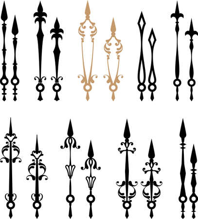 ornamental design: Clock Hands Arms Vector Art Stock Photo