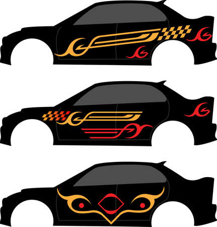 vehicle graphics: Vehicle Graphics, Stripe : Vinyl Ready Vector Art Stock Photo