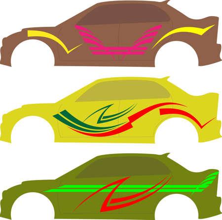 ready: Vehicle Graphics, Stripe : Vinyl Ready Vector Art Stock Photo