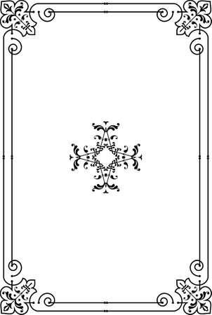 marcos decorativos: Marco del arte de Fronteras de diseño vectorial Vectores
