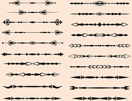 Text Divider Ornamental Design Vector Art Ilustracja