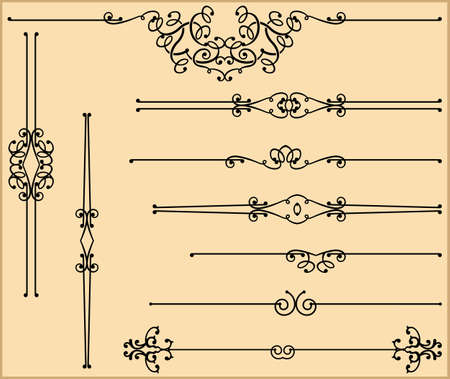 Text Divider Ornamental Design Vector Art Illustration