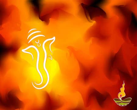 indian light: Diwali Greeting Design Vector Art