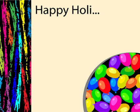 dhulandi: Holi The Festival Of Colours Vector Art