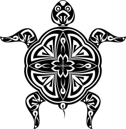tatoo: Tattoo Turtle Design Vector Art Illustration