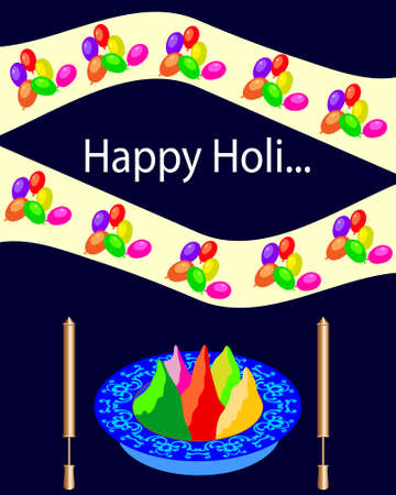 gulal: Holi The Festival Of Colours Vector Art
