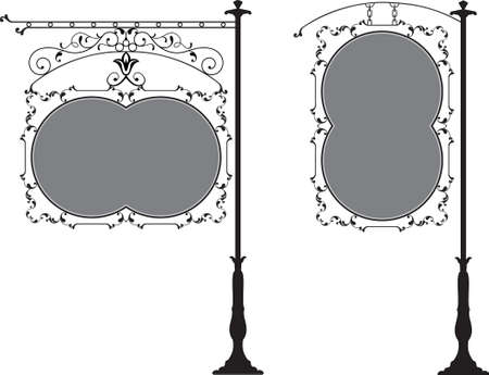 signage: Wrought Iron Signage Vector Art