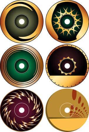cd: Cd - Dvd Label Design Template Vector Art