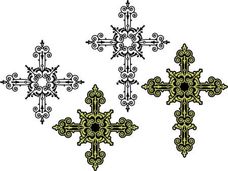 viernes santo: Arte cruzado cristiano de diseño vectorial