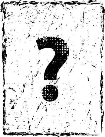 Grunge Question Mark Vector Art Illustration