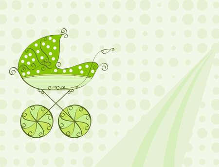 De Kaart van de Douche van de baby ontwerp vector kunst