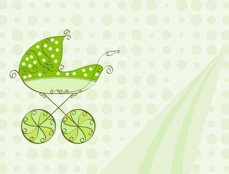 invitacion baby shower: Tarjeta de Baby Shower Dise�o Arte Vector