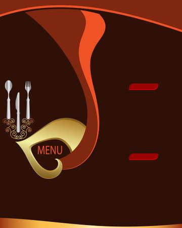 menu elements: Menu Card Design Template Vector Art