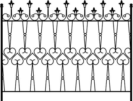 fabrication: Wrought Iron Gate, Door, Fence, Window, Grill, Railing Design Vector Art