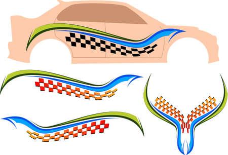 background check: Vehicle Graphics, Stripe : Vinyl Ready Vector Art Illustration
