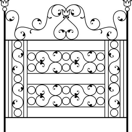 iron: Wrought Iron Gate, Door, Fence, Window, Grill, Railing Design Vector Art