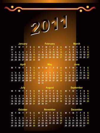 calendar design: Calendar Design 2011 Vector Art Illustration