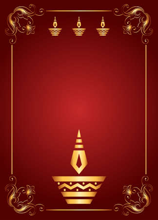 greeting card backgrounds: Diwali Greeting Design Vector Art
