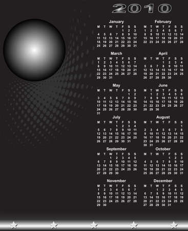 calendar design: Calendar Design 2010 Vector Art Illustration