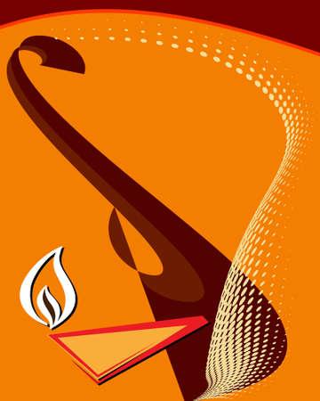 deepak: Diwali Greeting Design Vector Art