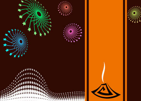 fire works: Diwali Greeting Fire Works Vector Art