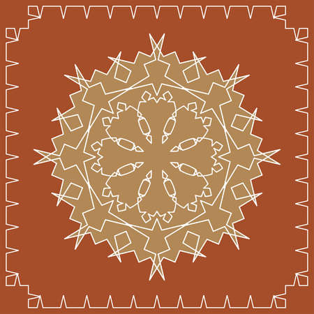 african village: Folk Circular, Tribal Design, Motif, Wall Painting Vector Art