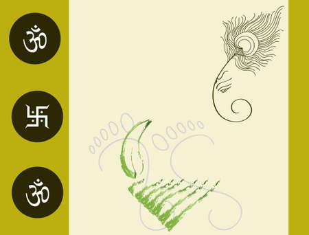 light god: Ganesha The Lord Of Wisdom Vector Art Illustration