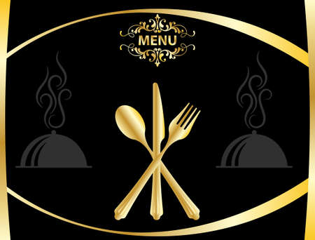 menu card design: Menu Card Design Template Vector Art