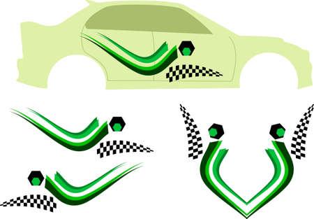 ready: Vehicle Graphics, Stripe : Vinyl Ready Vector Art Illustration