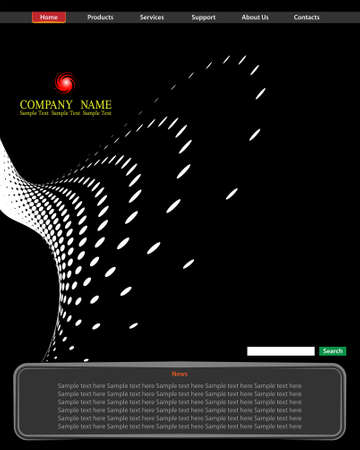 web template: Background Composition, Web Template (Halftone) Vector Art Illustration