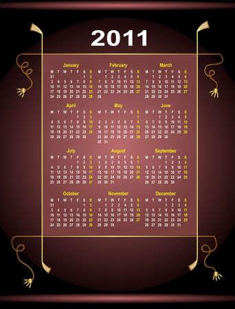calendar design: Calendar Design 2012 Vector Art