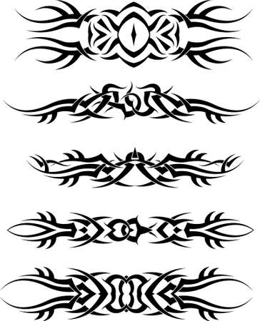 bracelet tattoo: Tattoo Arm Band Set Vector Art