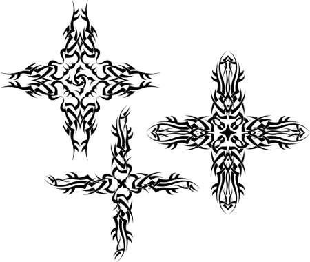 cross vector: Tattoo Christian Cross Vector Art