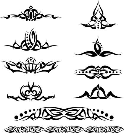 Tattoo Ring Design Vector Art