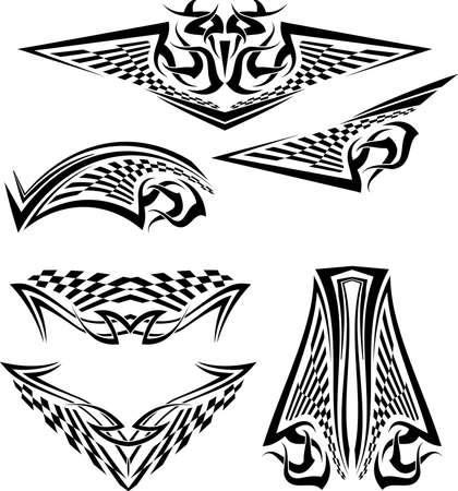 race flag: Tattoo Race Flag Vector Art