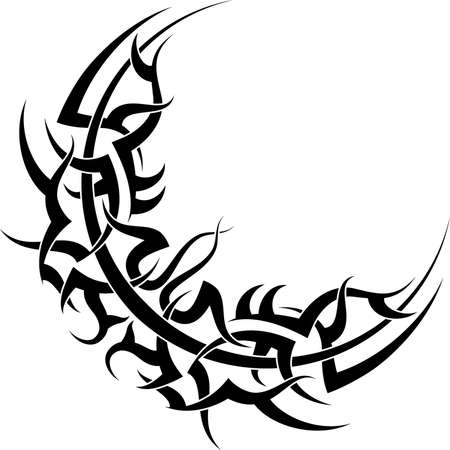 Tattoo Ontwerp van de Maan Vector Art