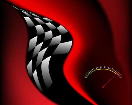 checkered: Race Card Design Vector Art