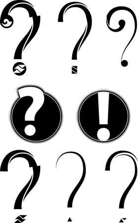 point d interrogation: Question Mark Symbole Art Vecteur Illustration