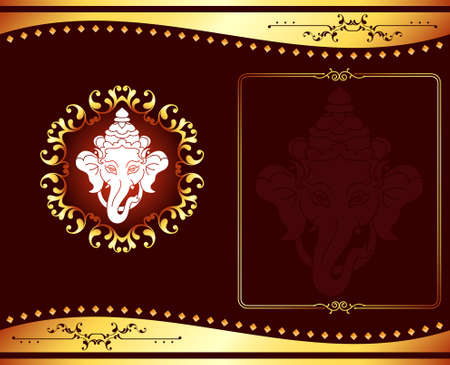 god's: Ganesha The Lord Of Wisdom Vector Art Illustration
