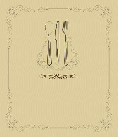 style artistic: Menu Card Design Template Vector Art
