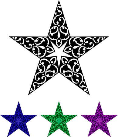 Tattoo Star Design Vector Art Illustration