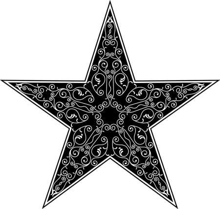 star tattoo design: Tattoo Star Design Vector Art Illustration