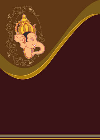 hand of god: Ganesha The Lord Of Wisdom Vector Art Illustration