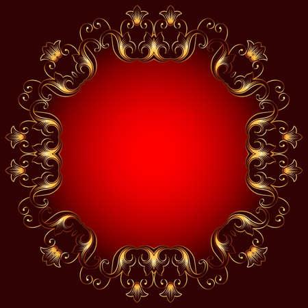 swirl background: Frame Border Design Vector Art